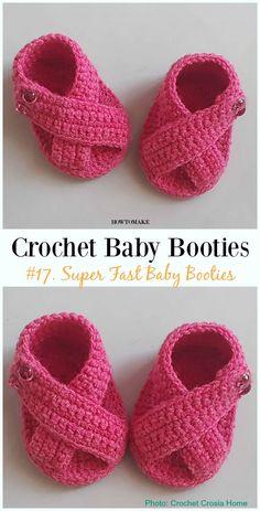 Ideas Crochet Baby Slippers For 2019 Crochet Baby Sandals, Booties Crochet, Crochet Baby Clothes, Crochet Shoes, Crochet Slippers, Crochet Pattern Free, Baby Booties Free Pattern, Baby Converse, Crochet Bebe