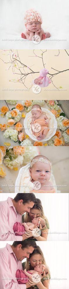 baby M and her family #newborn #flowers