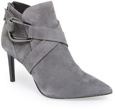 Your online source for grey boots, grey ankle boots, grey boots for women, grey suede boots, grey knee high boots and Rachel Zoe 'Harmony' Pointy Toe Bootie (Women)