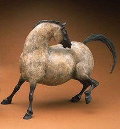 """Rock Art Mare """"Itch"""" by star york sculpture Sculpture Metal, Pottery Sculpture, Horse Sculpture, Animal Sculptures, Ceramic Animals, Ceramic Art, Southwest Art, Wow Art, Equine Art"""