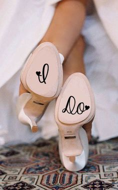 Paint Or Write On Your Wedding Shoes ❤︎ #weddinginspiration