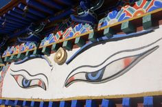 Great Buddha eyes on the Gyantse Kumbum stupa