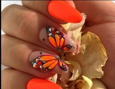 Best Bright Summer nail Design 2018 with Beautiful Pattern