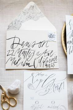 wedding invitations, calligraphy, typography, hand lettering, wedding inspiration