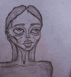 Minimal Drawings, Dark Art Drawings, Art Drawings Sketches, Tim Burton Drawings Style, Psychedelic Drawings, Grunge Art, Arte Sketchbook, Funky Art, Art Inspo