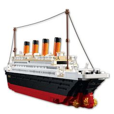 Model building kits compatible with lego city Titanic RMS ship 3D blocks Educational model building toys hobbies for children (32647325429) SEE MORE #SuperDeals