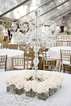 vintage chandelier centerpiece