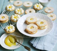 Everyone's favourite jam biscuit gets a zesty makeover - sandwich with lemon curd and sprinkle with sherbet for extra zing