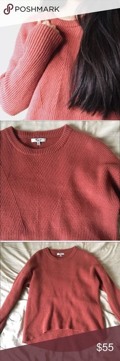 Madewell Moderne Sweater in Salmon Super cozy for winter. Worn once. Medium. Madewell Sweaters