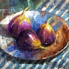 Fig Trio, painting by artist Julie Ford Oliver