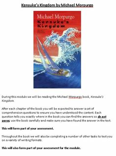 Kensuke's Kingdom: Scheme of Work and Lessons Michael Morpurgo Books, Kensukes Kingdom, World Humanitarian Day, National Poetry Day, Gcse English Literature, International Literacy Day, Children's Book Week, English Reading, Teaching Resources
