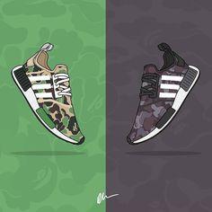 An amazing work from @kickposters for the new @adidasoriginals x @bape_japan NMD collaboration! Drops November 26th #adidasoriginals #nmd #bapenmd #bape #hypefeet #sneakers #kicks #sneakerhead #kickstagram #sneakershouts #swag #style #cool #photo #new #trainers #sneakertruth #todayskicks #sneakerholics #fashion #shoegasm #sneakerfriend #solenation #sneakergram #queenkicks