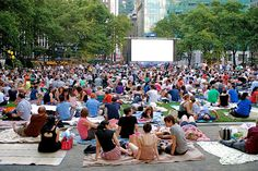 Bryant Park Summer Movie screenings. This is a great way to spend an evening.  There're good picnicky food options close by, too!