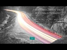 #Colorado #Boulder Canyon Drive Moving Light and Art 4K #insognaGallery
