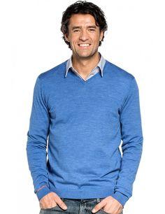Joe V-neck Riviera Blue