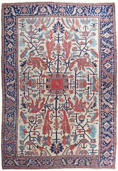 "Persian Heriz Serapi rug, 14'3"" x 9'8"", ca 1880, Farnham Antique Carpets"