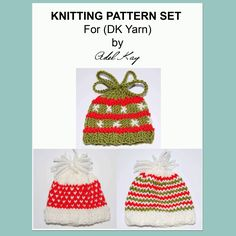 Teilo Egg Cosy Christmas set Knitting Pattern
