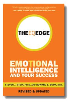 Authors Steven J. Stein and Howard E. Book show you how the dynamic of emotional intelligence works. By understanding EQ, you can build more meaningful relationships, boost your confidence and optimism, and respond to challenges with enthusiasm–all of which are essential ingredients of success. The EQ Edge offers fascinating–and sometimes surprising–insights into what it takes to be a top law–enforcement officer, lawyer, school principal, student, doctor, dentist or CEO.  Cote 9-472 STE.