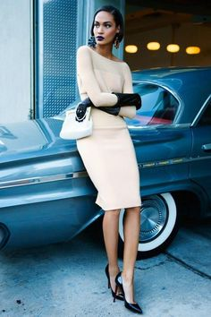 joan smalls, vogue australia. classy with sass. love the vintage car as well