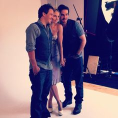 Twitter / OnceUponAFan: Jennifer Morrison, Michael Raymond James & Colin O'Donoghue pose for TV Guide