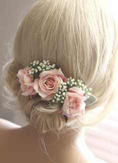 Items similar to wedding hair accessories, flower hairpiece, Bridal hair accessories, wedding headpiece, Wedding Bridesmaid Flowers, Flower Headpiece Wedding, Wedding Hair Flowers, Hair Comb Wedding, Flowers In Hair, Silk Flowers, Bridesmaid Ideas, Bridal Comb, Bridal Hair Combs