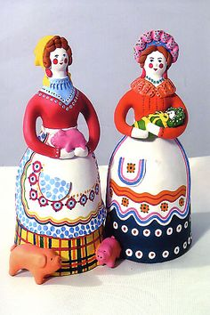 Dymkovo toy is a painted clay toy from the Russian village of Dymkovo.