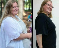 Just want to share this picture of Christina. The picture on the left was July 2012 when she got married.