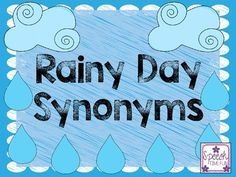 Work on synonyms using context clues with this fun rainy day themed activity!  Perfect for the month of April!Four clouds with adjectives are provided.  Students must match the raindrop sentences with the cloud that has the synonym of the underlined word!