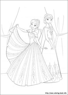Frozen coloring picture