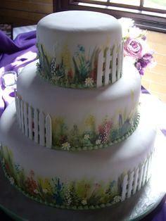 Garden Design Birthday Cake bird cake | garden theme cake — birthday cakes | cakes | pinterest