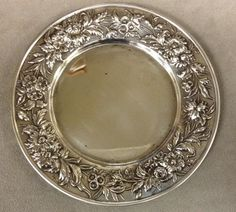 """S. Kirk & Son Sterling Repousse Plate 6 1/4"""" #SKirkSon"""