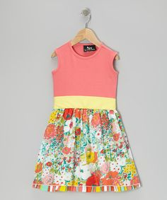 Loving this Coral Ladybird Petticoat Dress - Infant, Toddler & Girls on #zulily! #zulilyfinds