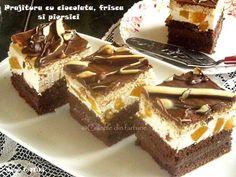» Prajitura cu ciocolata, frisca si piersiciCulorile din Farfurie Food Cakes, Tiramisu, Cake Recipes, Sweets, Cooking, Ethnic Recipes, Desserts, Deserts, Food