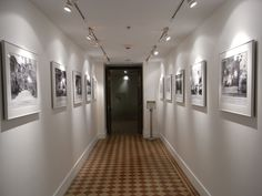 Fabulous #corridor #interior designs with different frames on white wall Visit http://www.suomenlvis.fi/