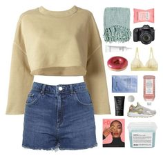 """""""work from home"""" by omgjailah ❤ liked on Polyvore featuring adidas Originals, Topshop, Dunn, Surya, Eos, Formula 10.0.6, Davines, Elizabeth Arden, STELLA McCARTNEY and NIKE"""