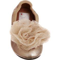 Lanvin Pom Pom Ballet Slipper ($390) found on Polyvore