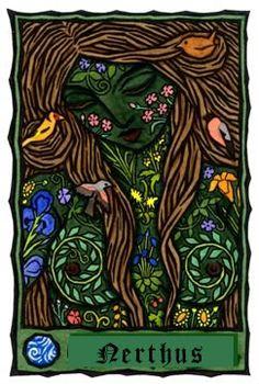 Gods Goddesses Legends Myths:  Nerthus, Norse #Goddess of Earth.