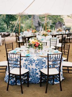 La Tavola Fine Linen Rental: Casablanca Steel Blue with Topaz New Surf Napkins   Photography : Jen Rodriguez Photography, Event Design: Lovelyfest, Floral Design: Precious and Blooming Floral Design, Venue: La Cuesta Ranch