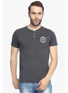 Huge collection of Selection of Round Neck T Shirts at ADRO dress. Purchase God Printed T Shirt just on Delivery is free and substitution inside 7 days. Navy Blue T Shirt, Tshirts Online, Half Sleeves, Neck T Shirt, Online Clothes, Shopping Sites, Prints, Cotton, Mens Tops