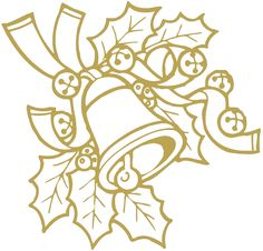 Wandtattoo/Dekorfolie mit Motiv Zweig mit Glocke, in 11 Farben