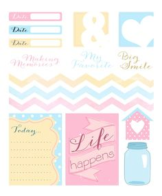Planners and Journaling Printables FREE project life goodies