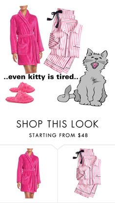 """""""Bedtime"""" by katieness ❤ liked on Polyvore featuring DKNY, Victoria's Secret and Deluxe Comfort"""