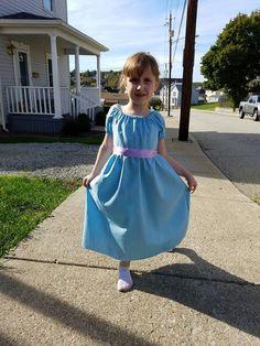 Girls 2T-8 Wendy Darling Peter Pan Inspired Dress Costume