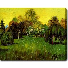 Vincent van Gogh 'The Poet's Garden' Gallery-wrapped Canvas Art | Overstock.com Shopping - The Best Deals on Canvas