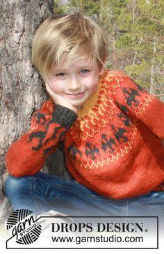 Dragon's Play / DROPS Children 37-11 - Gratis strikkeoppskrifter fra DROPS Design Baby Knitting Patterns, Free Knitting, Crochet Patterns, Drops Design, Drops Alpaca, Magazine Drops, Labor, Knit In The Round, Crochet Diagram