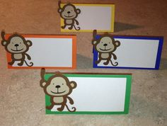 Monkey Place Cards on Etsy, $9.00