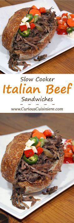 The slow cooker makes homemade Italian Beef sandwiches a fun and easy way to…