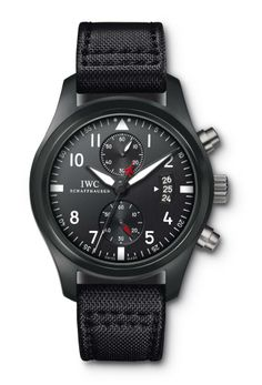 Anyone seeking a black wristwatch will likely gravitate to the IWC Top Gun Chronograph as it is a gorgeous timepiece. However, the Top Gun Chronograph Brm Watches, Cool Watches, Watches For Men, Wrist Watches, Black Watches, Unique Watches, Latest Watches, Top Gun, Iwc Pilot Chronograph