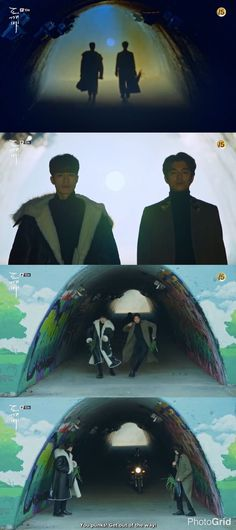 Gong Yoo and Lee Dong Wook as Goblin and the Grim Reaper in the drama Goblin. W Kdrama, Kdrama Memes, Kdrama Actors, Goblin Funny, Goblin Kdrama Funny, Boys Over Flowers, Grim Reaper Goblin, L Kpop, Goblin The Lonely And Great God