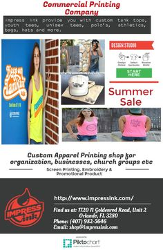 Design your own t-shirts via #screen #printing and #embroidery #florida with our summer sale at lowest cost and best quality work!